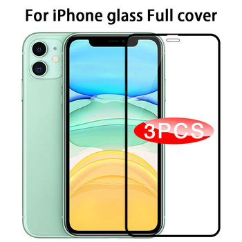 3pcs Protective Glass on For iPhone 11 Screen Protector for iphone 11 Pro X XR XS Max 6 7 8 plus Full Cover Glass for iphone 11 1