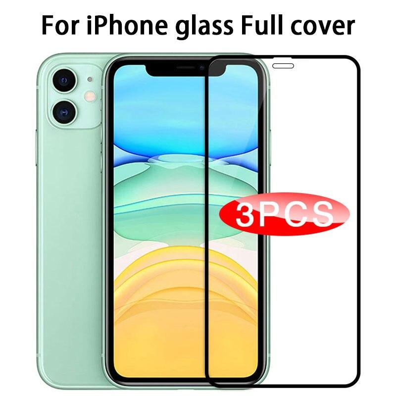 Защитное стекло для iPhone 11, 3 шт., Защита экрана для iphone 11 Pro X XR XS Max 6 7 8 plus, стекло с полным покрытием для iphone 11|Защитные стёкла и плёнки|   | АлиЭкспресс - Топ аксессуаров для смартфонов