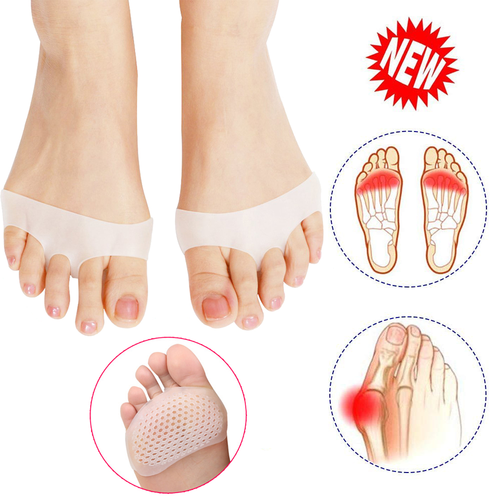 2pcs Set Toe Supports Protector Silicone Bunion Thumb Valgus Protector Beehive Forefeet Sleeve Cushions Feet Pain Relief A35