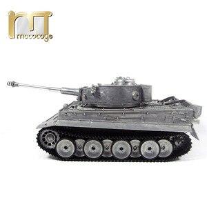 Image 3 - MATO char RC en métal, 1220 100% G, char allemand Tiger 1, baril de combat à infrarouge, BB tir, prêt à fonctionner, VS Tamiya, 2.4G