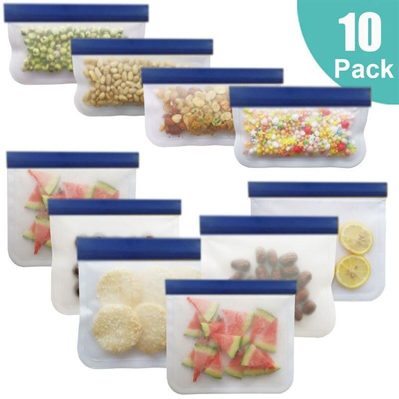 10 шт., силиконовые контейнеры для хранения продуктов