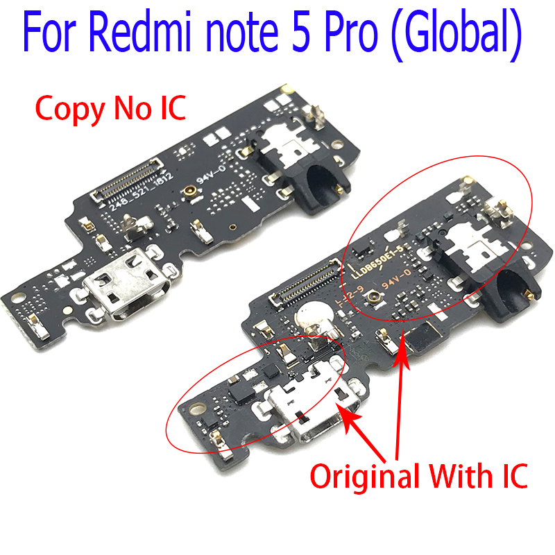 New Dock Charger Connector USB Charging Port Flex Cable For Xiaomi Redmi Note 5 Note5 Pro USB Charger Microphone Board
