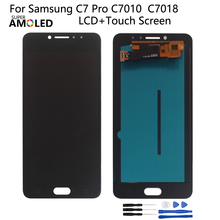 Amoled For Samsung Galaxy C7 Pro LCD Display Touch Screen Digitizer Assembly For Samsung C7010 C7018 Screen LCD Repair Parts