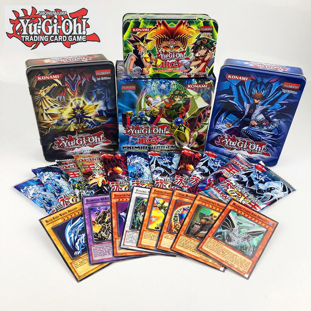90pcs/set Yu Gi Oh Game Cards Classic YuGiOh Game English Cards Carton Collection Cards With Flash Card And Metal Tin Box Toys