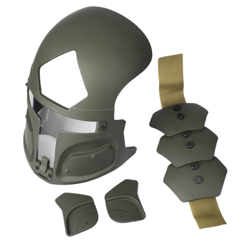 TNG Galac-Tac FAST US Army Tactical Helmet Protective Mask For Hunting War Game (Without Helmet) - Ranger Green
