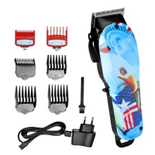 Professional barber hair clipper adjustable hair trimmer for men rechargeable electric cutter hair cutting machine hair cut tool 100 240v low noise hair cutting machine clipper trimmer titanium ceramic blade hair trimmer cutter tools barber machine men cut