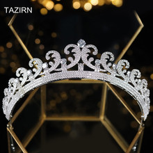 CZ Princess Kate Middleton Wedding Bridal Tiaras and Crowns Sparkly Cubic Zirconia Hair Jewelry Pageant Headpieces Headband