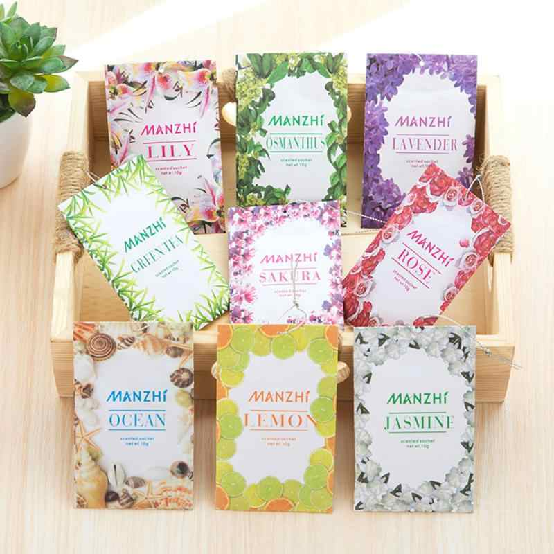 Natural sachet Aromatherapy bag Hanging Fragrant Sachet for Wardrobe Closet Car Fragrance Air Freshening Home Scents