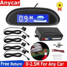 2020 Car Parking Radar Monitor Detector System Car Parktronic LED Parking Sensor With 4 Sensors Reverse Backup Backlight Display