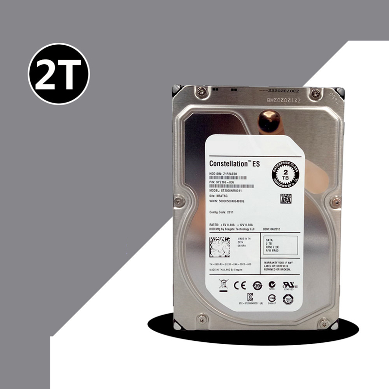 """New HDD For Seagate 2TB 3.5"""" SATA 6 Gb/s 64MB 7200RPM For Internal HDD For Enterprise Class HDD For ST2000NM0011 2"""