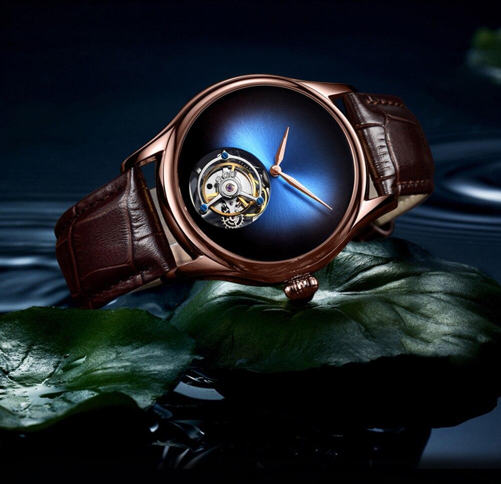 GUANQIN 2019 Tourbillon Men watches top brand luxury 100% real Tourbillon clock men Sapphire mechanical watch Relogio Masculino 20