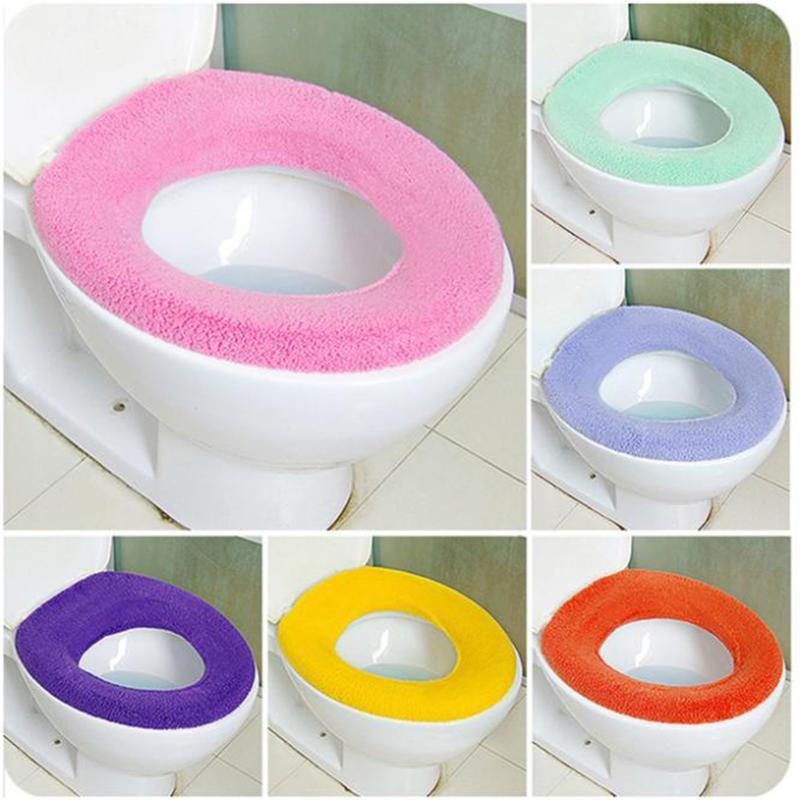 ครัวเรือนฤดูหนาว Soft ที่นั่ง Closestool ล้างทำความสะอาดได้ Soft Warmer Pad ถอดได้เบาะอุปกรณ์ห้องน้ำร้อน