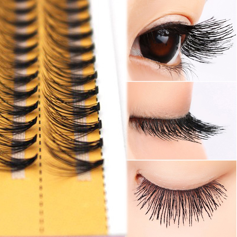 3D False Eyelashes 6-14mm Individual Lashes Single Cluster Planting Russian Premade Volum Eyelashes Extensions