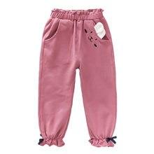 Осенние детские повседневные Мягкие штаны спортивные для маленьких