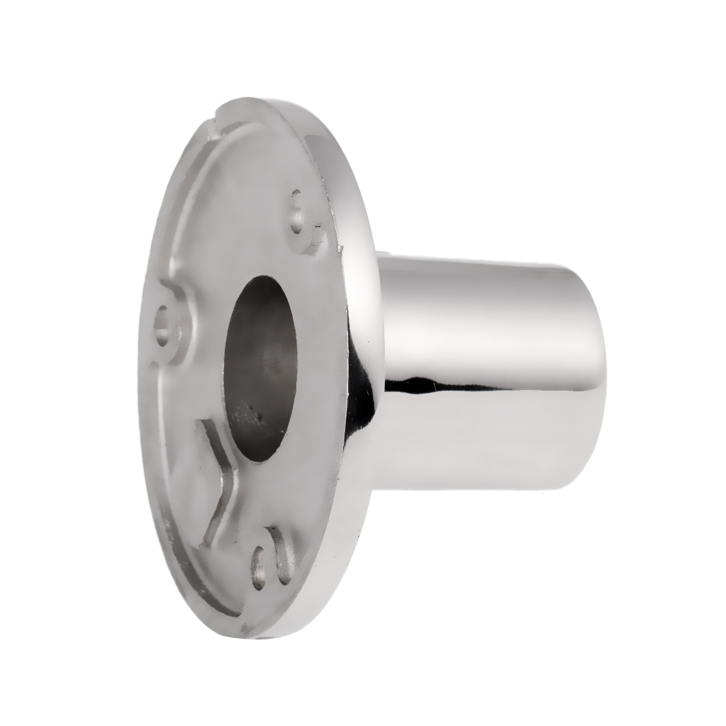 Boat Deck Mount Hand Rail Fitting Round Stanchion Base Hardware Accessories For 22mm Tube 90 Degree