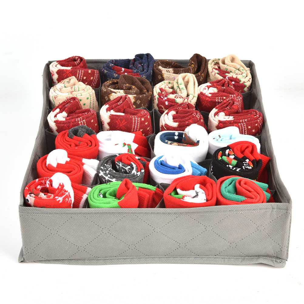 3 шт. различные сетки дизайн простой Nowoven дома хранения нижнее белье Органайзер коробки бюстгальтер галстук носки складной контейнер Органайзеры