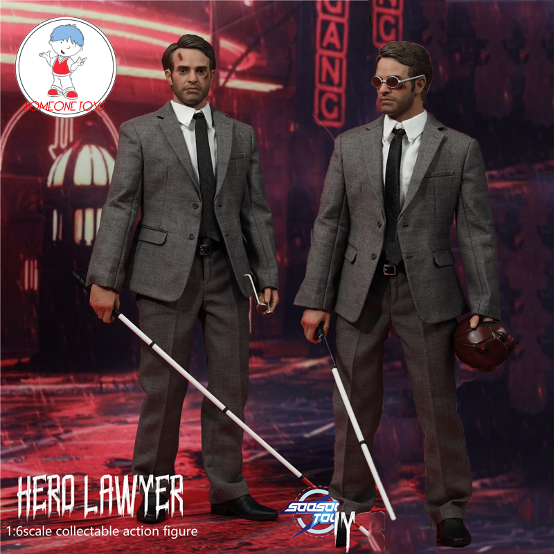 SOOSOOTOYS 1/6 SST013 HERO LAWYER Action Figure Model 12 Inches Blind Man Collection Model Toys Gift image