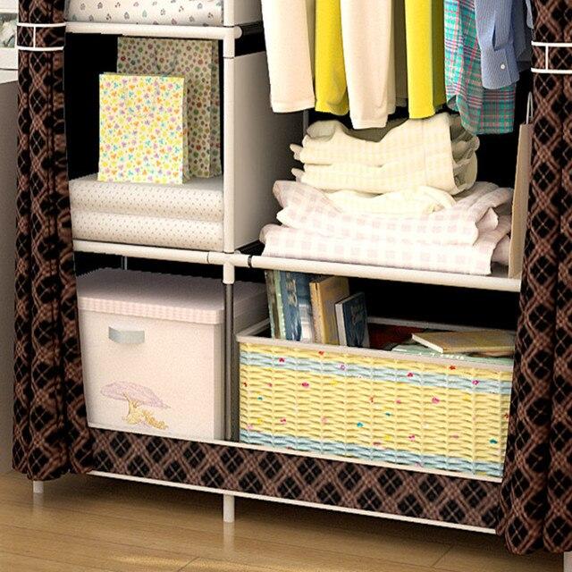 Многоцелевой нетканый шкаф для спальни складной портативный шкаф для хранения одежды пылезащитный чехол гардероб мебель для дома 4