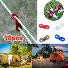 10 шт аксессуары для кемпинга крепеж палаток трос задняя застежка
