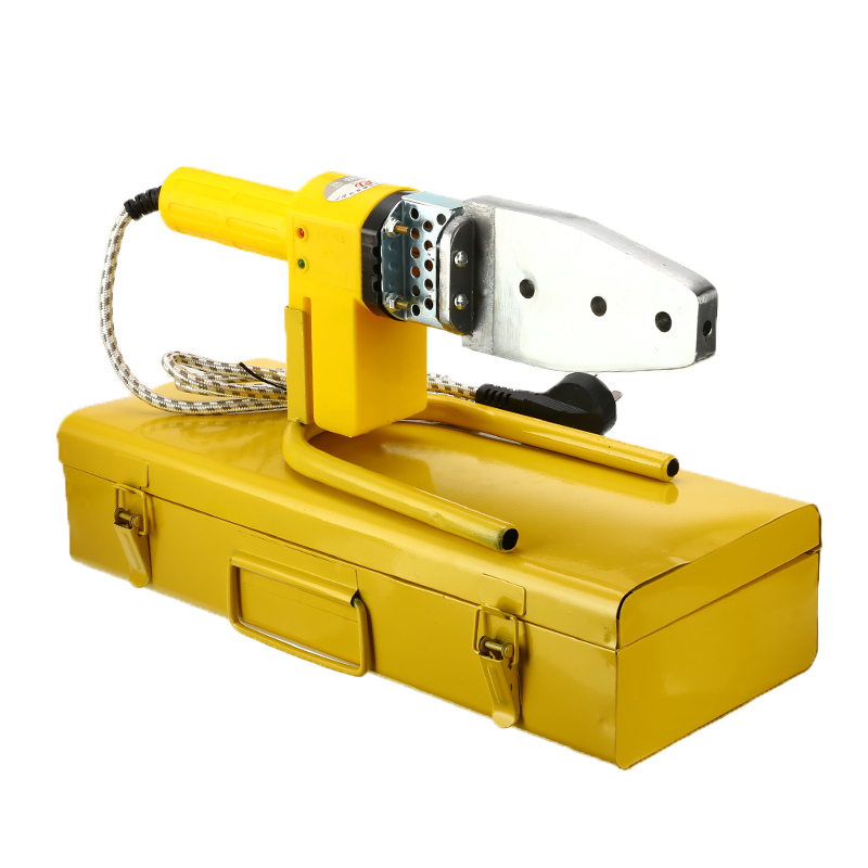220V 8Pcs Automatic Electric Welding Tool Heating PPR PE PP Tube Welded Pipe Welding Machine+ Stand+Box Yellow Heads+