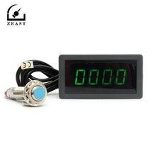 Tachometer Sensor Speed-Meter Hall Proximity-Switch Digital LED Green 4 with NPN 24V