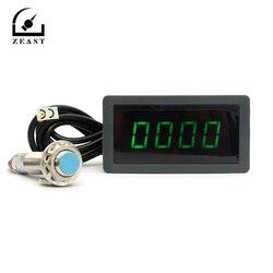 Тахометр 4 Цифровой Зеленый светодиодный Tach RPM измеритель скорости с Холлом датчик приближения NPN 12 В