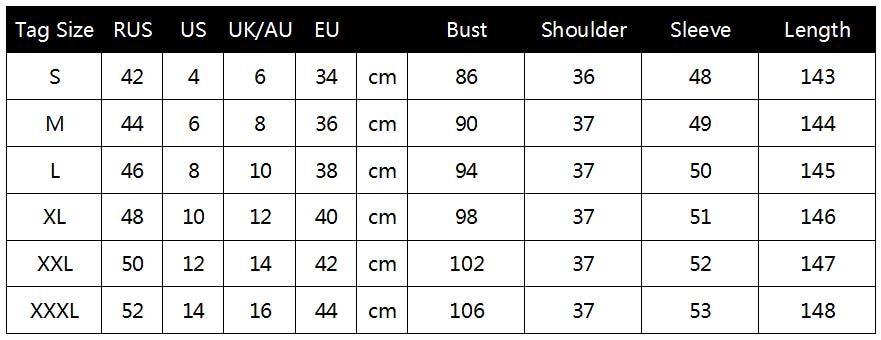 Size Chart of Floral Boho Maxi Dress