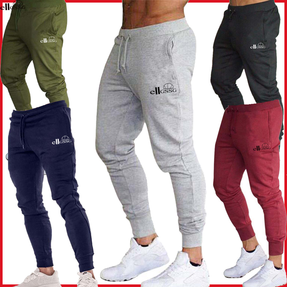 Брендовые спортивные штаны для бега, мужские спортивные штаны для бега, мужские брюки для бега, хлопковые спортивные брюки, облегающие брюки для бодибилдинга Повседневные брюки      АлиЭкспресс