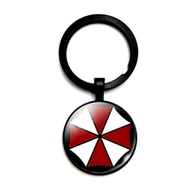 Alloy Keychain Biohazard-Umbrella Women Jewelry And Glass 3-Color Punk-Style DIY Passion