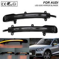 2X Fumo flash LED Dinamica Specchio Lampeggiante Luce di Segnale di Girata Della Lampada Per Audi Q5 Facelift 2012-Q7 Facelift 2010 -2015