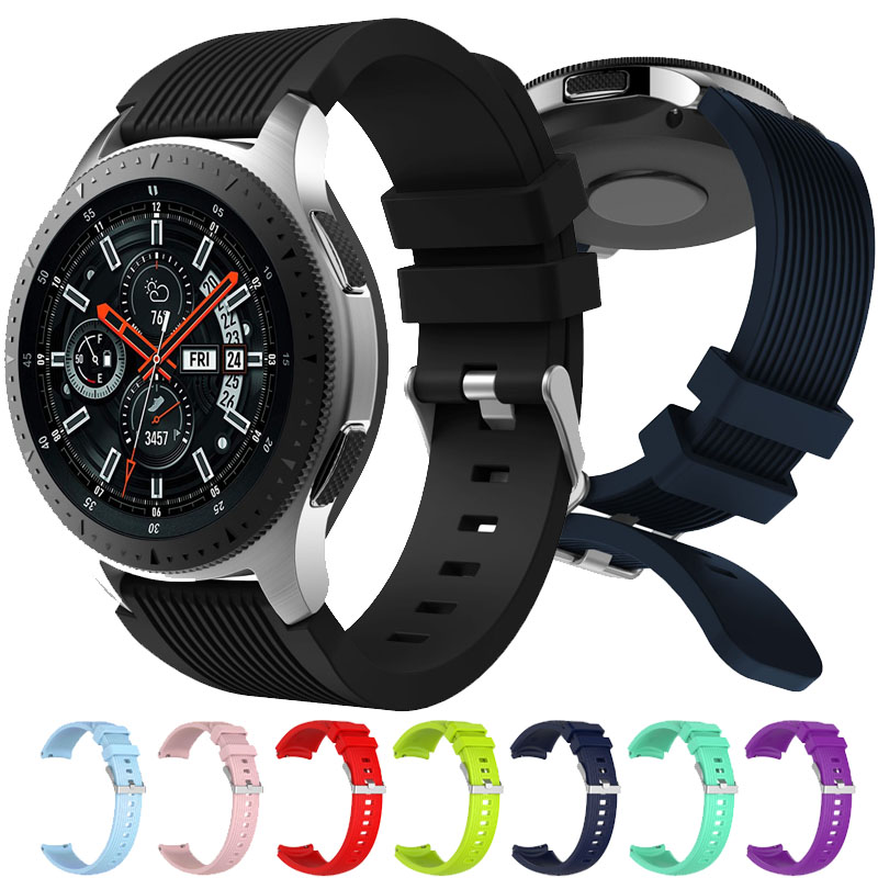 Watchbands 22mm Sport Silicone Strap Band For Samsung Gear S3 Classic Frontier Replacement Band For Huami Amazfit Stratos 2/2S