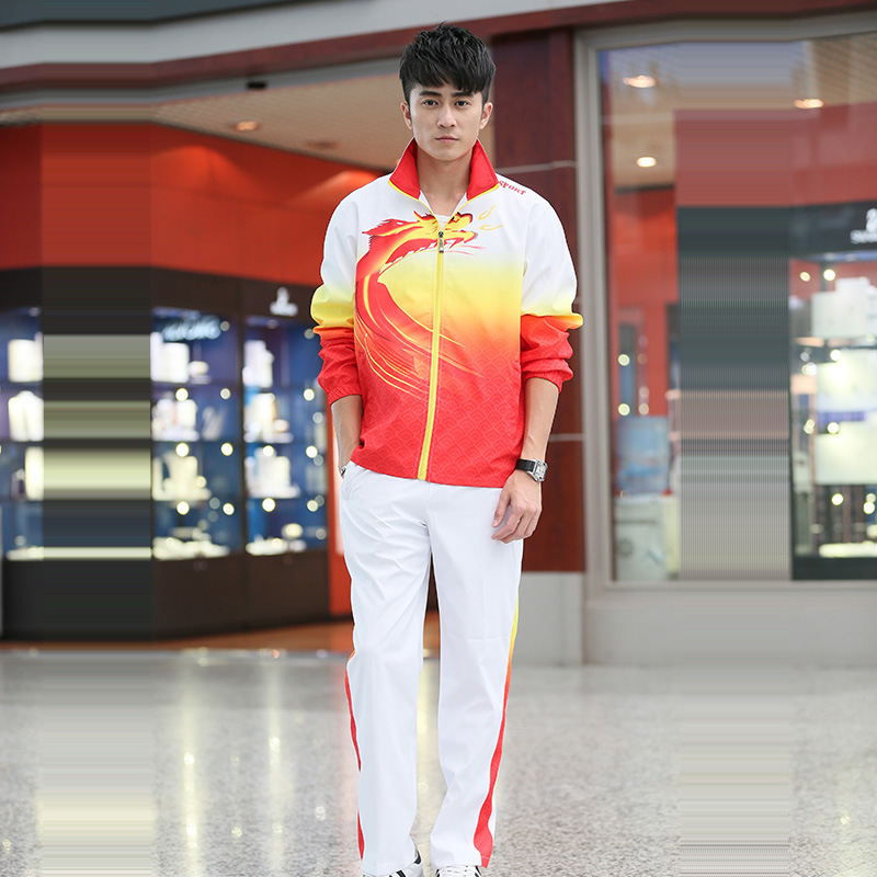 New Style Long-sleeve Sportswear Men And Women Students Sports Set Group Clothes Sports Will Square Dragon Dance Clothing