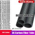 Бесплатная доставка 4 5 6 7 8 9 10 11 12 мм длиной 500 мм Высококачественная саржевая матовая 3K углеродная волоконная обмотка трубка, CFK трубка ROHRE