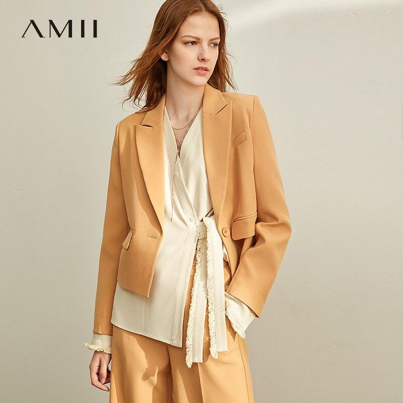 AMII Short Suit, Women's 2019 Style, New, Loose, Short-coat, Wide-legged Pants, Two-piece Suit. 11930322