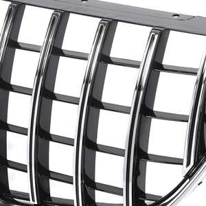 Image 5 - Chrome/Black W447 For GTR Style Grille Grill Car Front Bumper GT Grill Grille For Mercedes For Benz V Class W447 V250 V260 15 18
