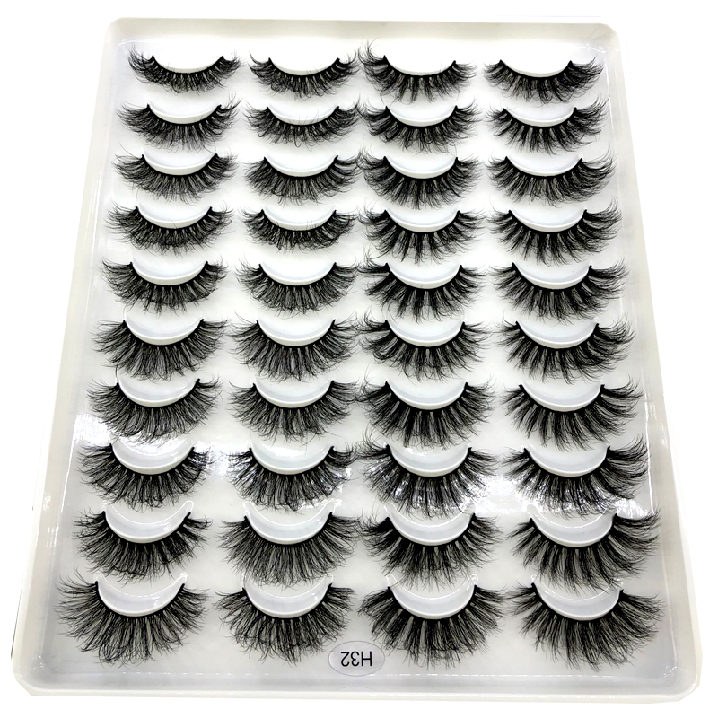 HBZGTLAD 20 pares naturais cílios postiços cílios falsos cílios vison extensão dos cílios mink cílios lashes maquiagem longo 3d para a beleza|Cílios postiços|   -