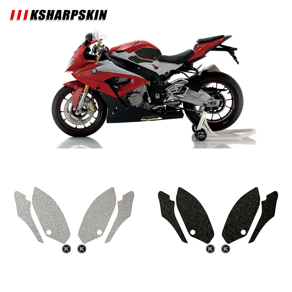Fuel Gas Tank Traction Side Pad Knee Grip Protection For BMW HP4 S1000R S1000RR