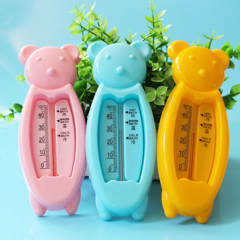 Cartoon Floating Lovely Bear Baby Water Thermometer Kids Bath Thermometer Toy Plastic Tub Water Sensor Thermometer