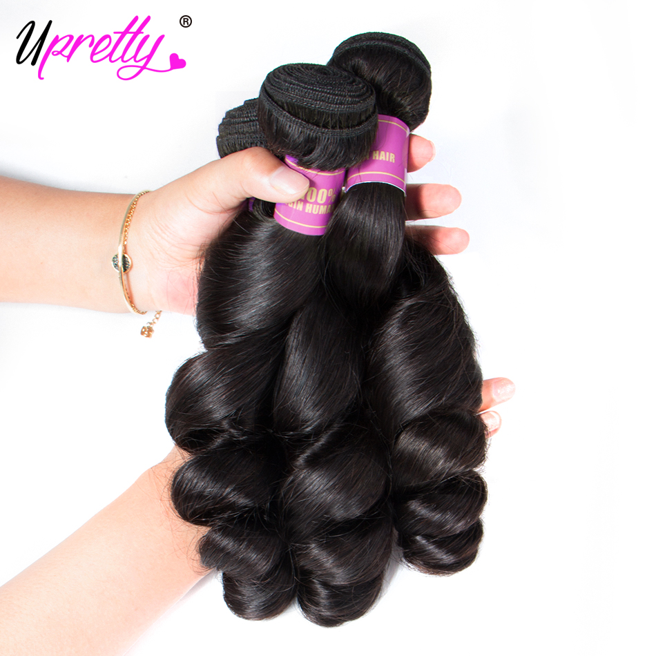 Upretty Hair Loose Wave Bundles With Lace Closure 6x6 5x5 Closure With Bundles Brazilian Remy Human Upretty Hair Loose Wave Bundles With Lace Closure 6x6 5x5 Closure With Bundles Brazilian Remy Human Hair Bundles With Closure