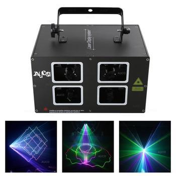 Projecteur De Balayage De Faisceau Coloré D'aucd 4 Lentilles DMX 500mW Rvb Lumières Laser LED Disco De Noël