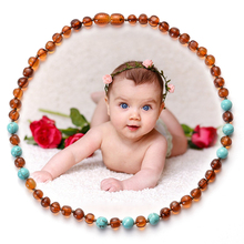 Kids Jewelry Classic Natural Baltic Amber Necklace for Baby Beads Necklace Baby Teething Bead Necklace Amber Jewelry Necklace yoowei 47cm amber necklace for women gogerous gift boho european design 5 6mm baltic amber beads collars amber jewelry wholesale