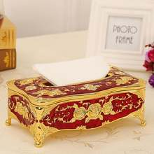 Коробка для салфеток из цинкового сплава Универсальная роскошная