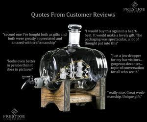 Image 3 - 1000ml Creative ימי חבית צורת האדום יין ויסקי זכוכית בקבוק יין לגין בר מטבח מסיבת חג המולד מתנה