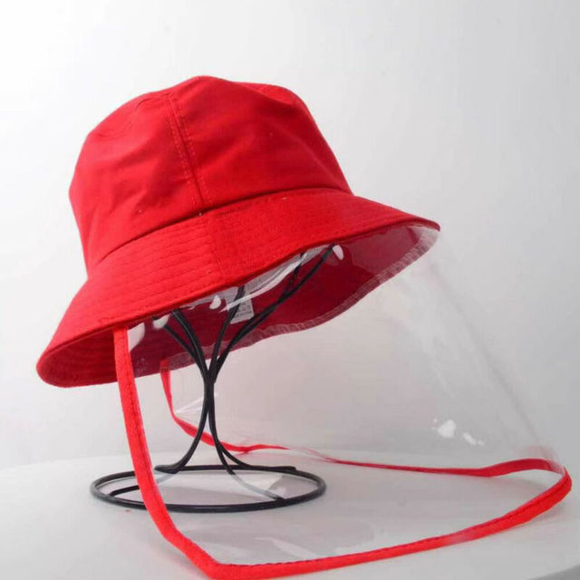 Anti Spitting Saliva Drool Fisherman Cap Dual-use Sun Hat Protective Face Shield Cover Hat with Detachable Clear Facial Mask 2