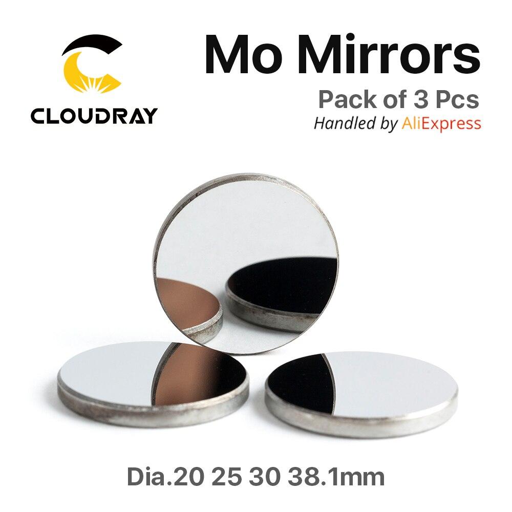 Cloudray Alta Qualidade Mo Espelho Diâmetro. 15 19.05 20 25 3 30 38.1 milímetros THK mm para CO2 Laser Engraving Máquina De Corte Pacote de 1Pcs /3 Pcs