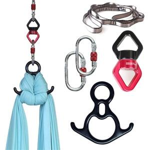 Image 1 - Набор для аэротанцев PRIOR FITNESS, Аксессуары для йоги, летающие воздушные шелки и антигравитационный гамак, поворотные качели для скалолазания