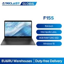 Teclast f15s 15.6 laptop laptop Polegada computador portátil 1920x1080 windows 10 os notebook 8gb ram 128gb rom intel apollo lago duplo wifi