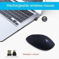 Rato de controle de voz sem fio rato recarregável entrada pesquisa tradução tipo-c puo88