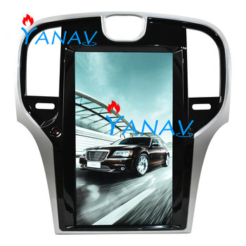 Tesla style vertical screen Android PX6 Car GPS Navigation For Chrysler 300C 2013+auto headunit multimedia player radio tape