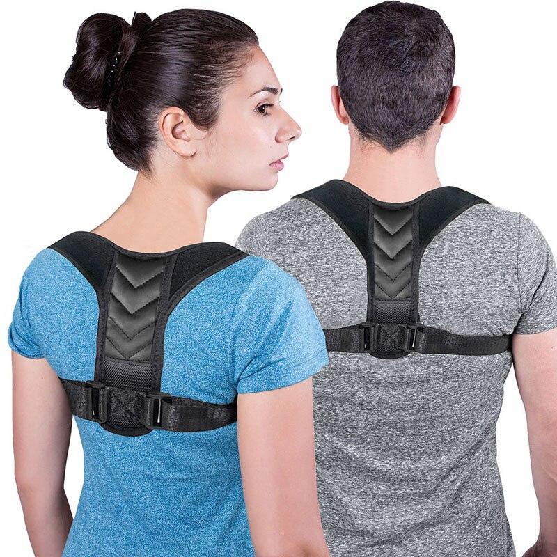 Lubinsi ajustável volta postura corrector cinta suporte cinto clavícula coluna volta ombro postura lombar correção